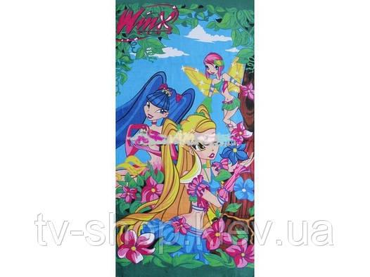 Полотенце пляжное Disney Winx (голубое)