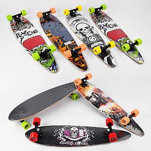 Скейт-лонгборд Best Board 32027, подшипник АВЕС-9, колёса PU, d=6.5см