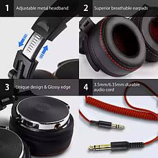 Наушники OneOdio Studio Pro 50 Black проводные профессиональные студийные наушники с микрофоном мониторные, фото 2