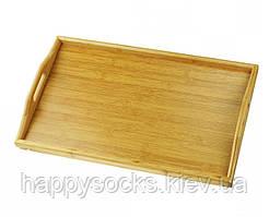 Бамбуковий столик-піднос з ручками