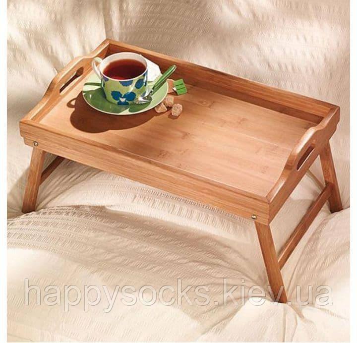 Столик бамбуковий для сніданку