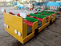 Песочница автобус, машина, качели, декор для сада Изделия из дерева для Вашего дома
