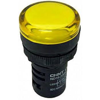 Световой индикатор ND16-22D/2 AC/DC24V жёлтый СНІNT