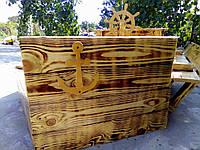Деревянная песочница Корабль Песочницы, качели, декор для сада Изделия из дерева для Вашего дома