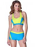 Жіночий роздільний купальник Aqua Speed Fiona 34 Блакитний з жовтим, фото 2