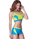 Жіночий роздільний купальник Aqua Speed Fiona 34 Блакитний з жовтим, фото 3