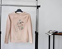 Свитшот женский весенний осенний Floret бежевый | Кофта женская весна осень демисезонная ЛЮКС качества