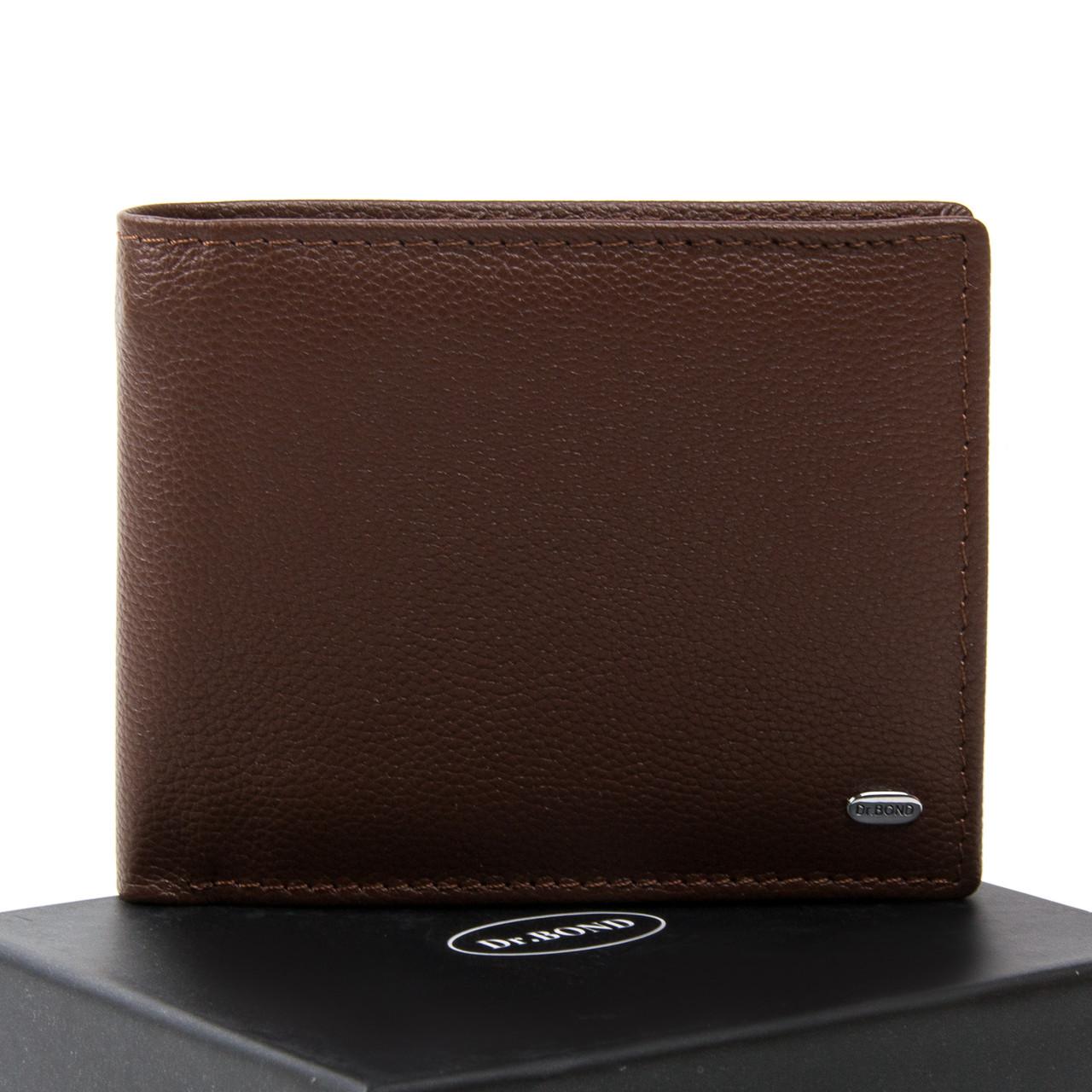 Чоловічий гаманець Classic шкіра DR. BOND MSM-5 коричневий