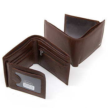 Чоловічий гаманець Classic шкіра DR. BOND MSM-5 коричневий, фото 2