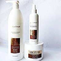 Восстанавливающий шампунь,маска и спрей для волос с аргановым маслом Jerden Proff