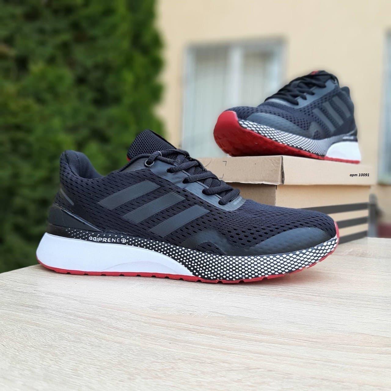 Мужские кроссовки Adidas Nova Run (черные) спортивная демисезонная обувь О10091
