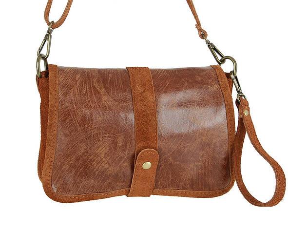 Женская кожаная сумка Carla Berry 69/18 Красный, фото 2