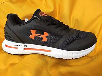 Мужские кроссовки Under Armour Hovr (черно-оранжевые) D104 стильная качественная обувь