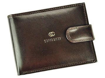 Мужской кожаный кошелек Cefirutti 7870 Черный, фото 2