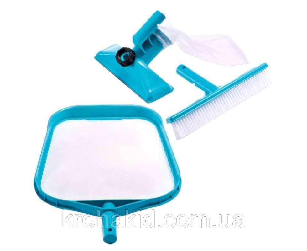 Комплект для чищення басейну Intex 29056 : сачок, щітка, вакуумна насадка