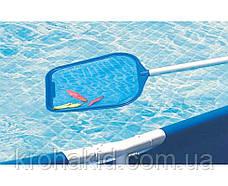 Комплект для чищення басейну Intex 29056 : сачок, щітка, вакуумна насадка, фото 3