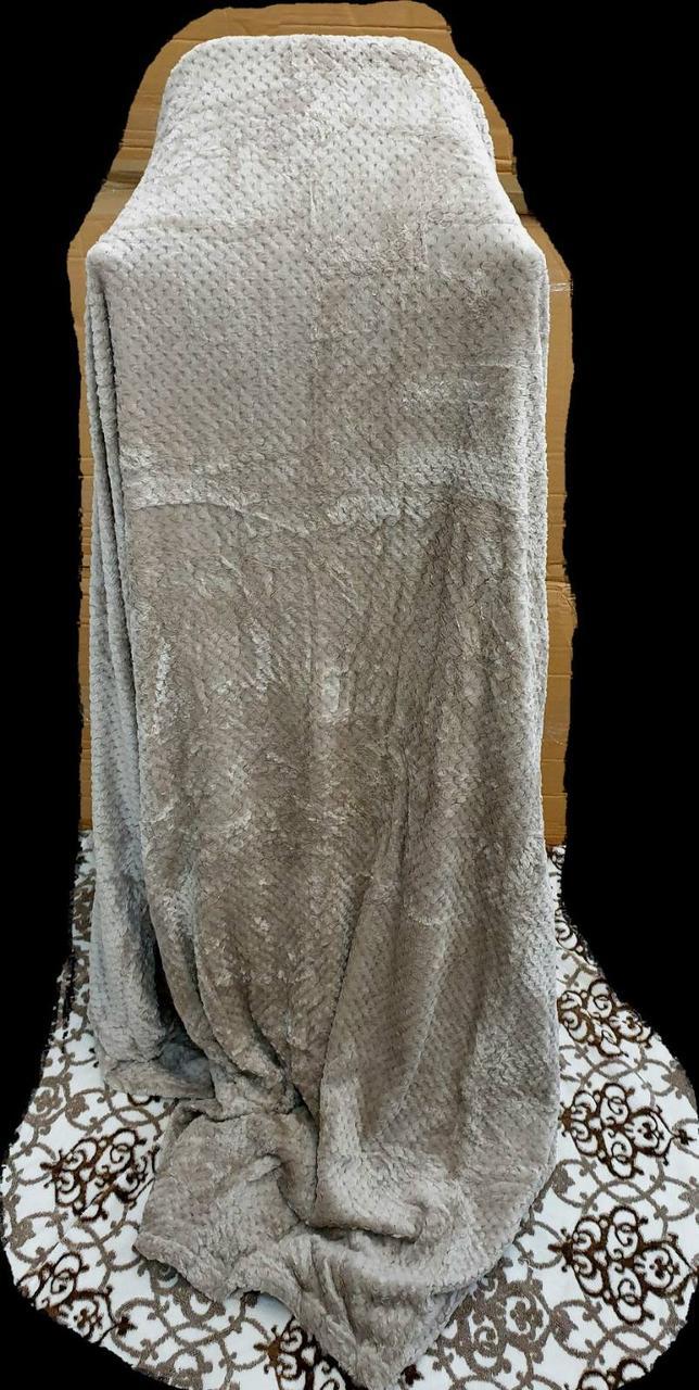 Простынь/покрывало Бамбук 200*230 (микрофибра) коричневый TM Koloco