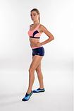 Раздельный спортивный купальник для бассейна Aqua Speed Fiona, топ и шортики, розовый с синим 34, фото 2