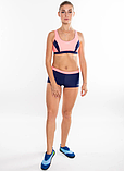 Раздельный спортивный купальник для бассейна Aqua Speed Fiona, топ и шортики, розовый с синим 34, фото 3