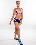 Раздельный спортивный купальник для бассейна Aqua Speed Fiona, топ и шортики, розовый с синим 34, фото 4