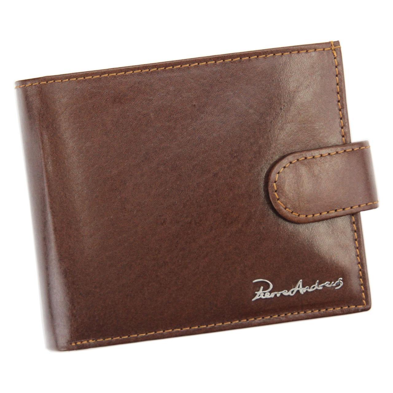 Чоловічий шкіряний гаманець Pierre Andreus PA-N01L-VT Чорний