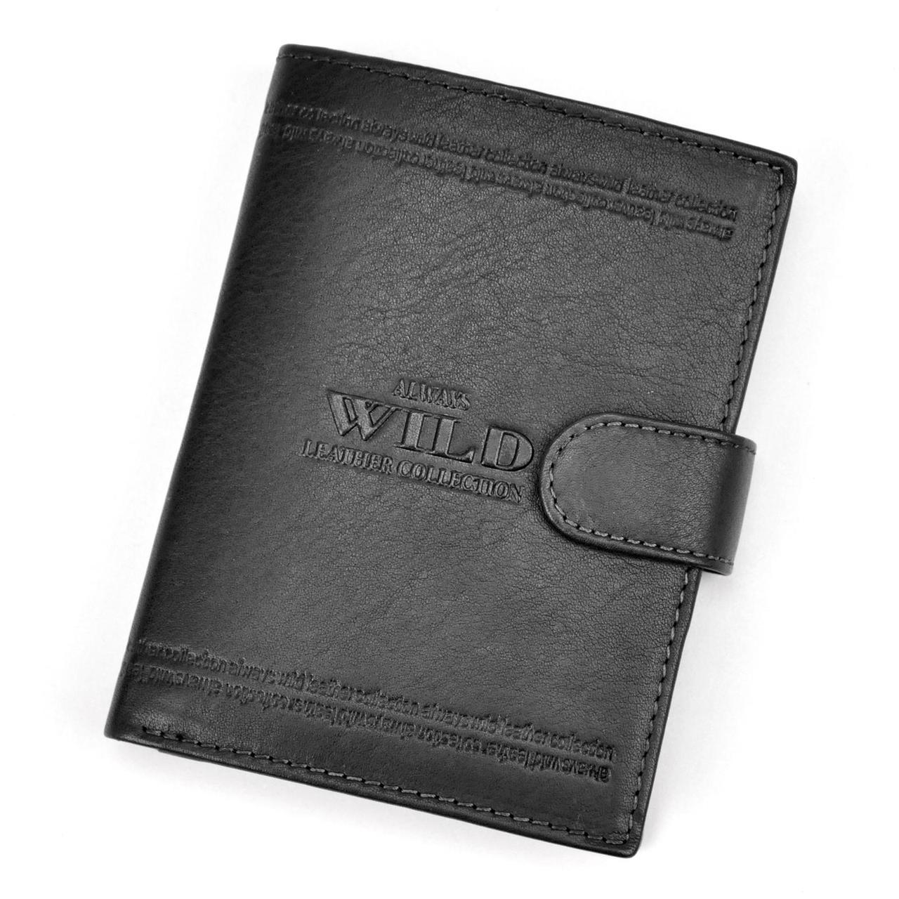 Мужской кожаный кошелек Wild N4L-WCA Коричневый