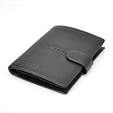 Мужской кожаный кошелек Wild N4L-WCA Коричневый, фото 2