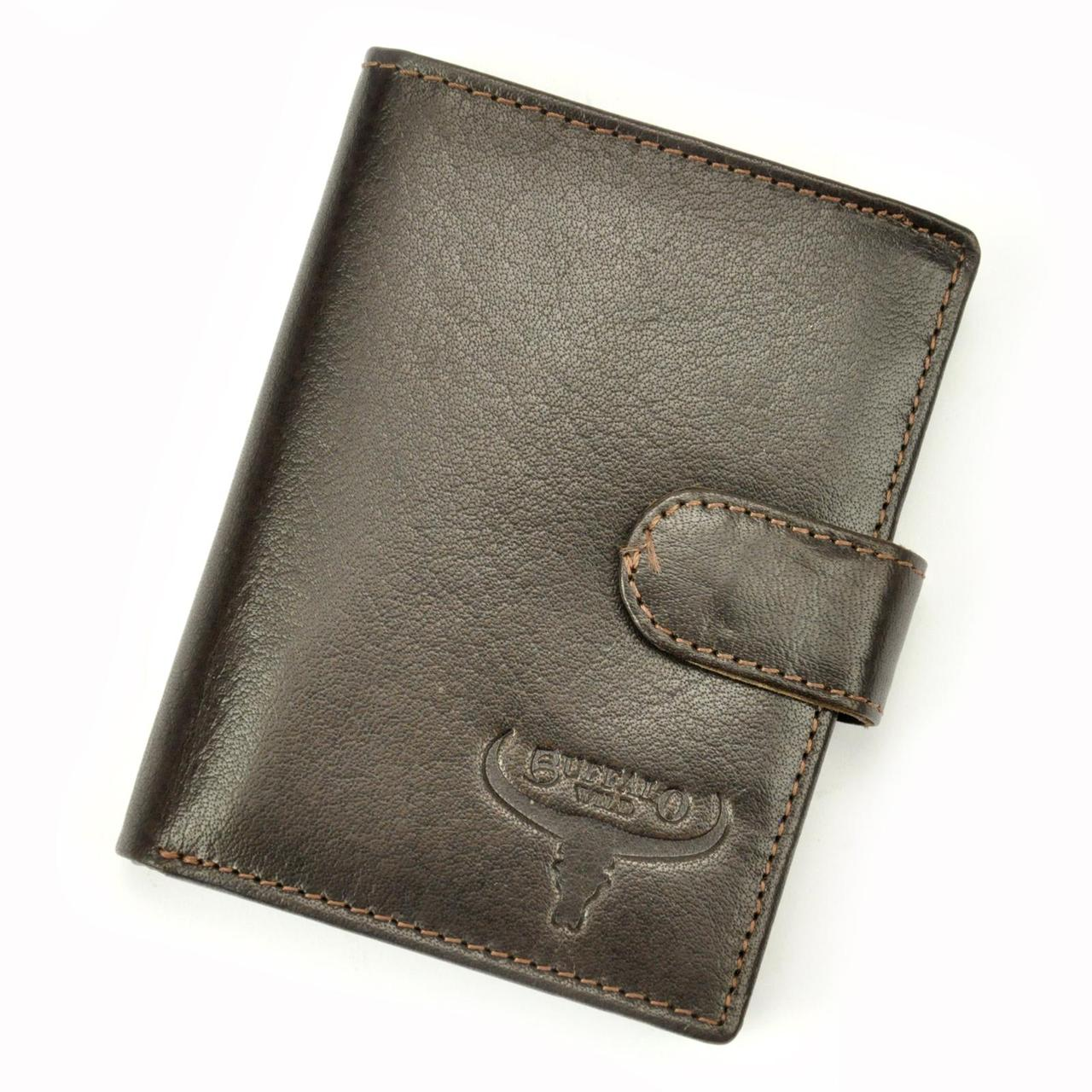 Чоловічий шкіряний гаманець BUFFALO Wild N4L-BWJ RFID Коньяк