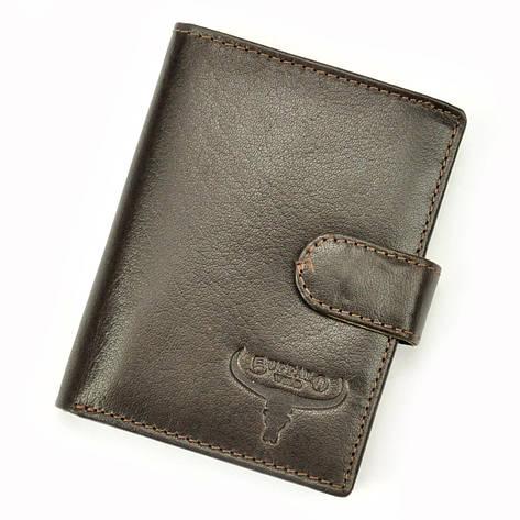 Чоловічий шкіряний гаманець BUFFALO Wild N4L-BWJ RFID Коньяк, фото 2
