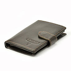 Мужской кожаный кошелек Wild BUFFALO N4L-BWJ RFID Коньяк, фото 2
