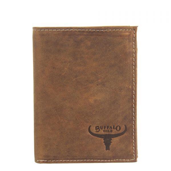 Чоловічий шкіряний гаманець Wild RM-06-HBW Коричневий