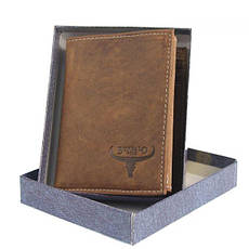 Чоловічий шкіряний гаманець Wild RM-06-HBW Коричневий, фото 2