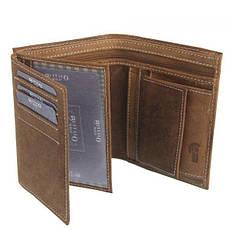 Чоловічий шкіряний гаманець Wild RM-06-HBW Коричневий, фото 3