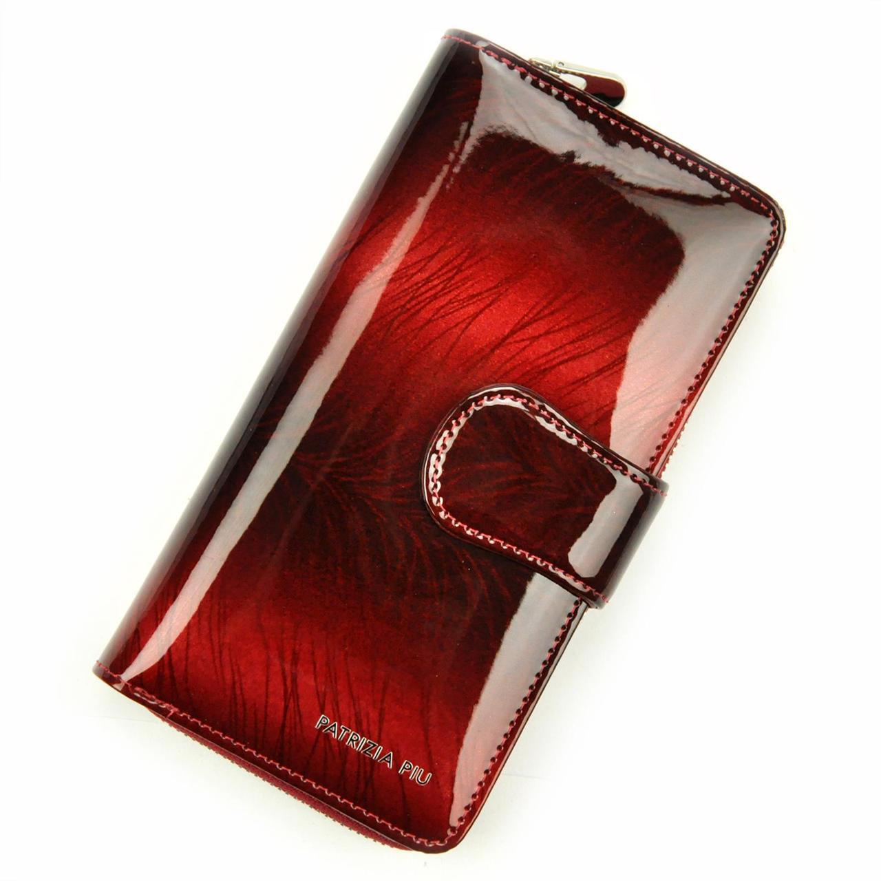 Жіночий шкіряний гаманець Patrizia Piu FF-116 RFID Темно-сірий