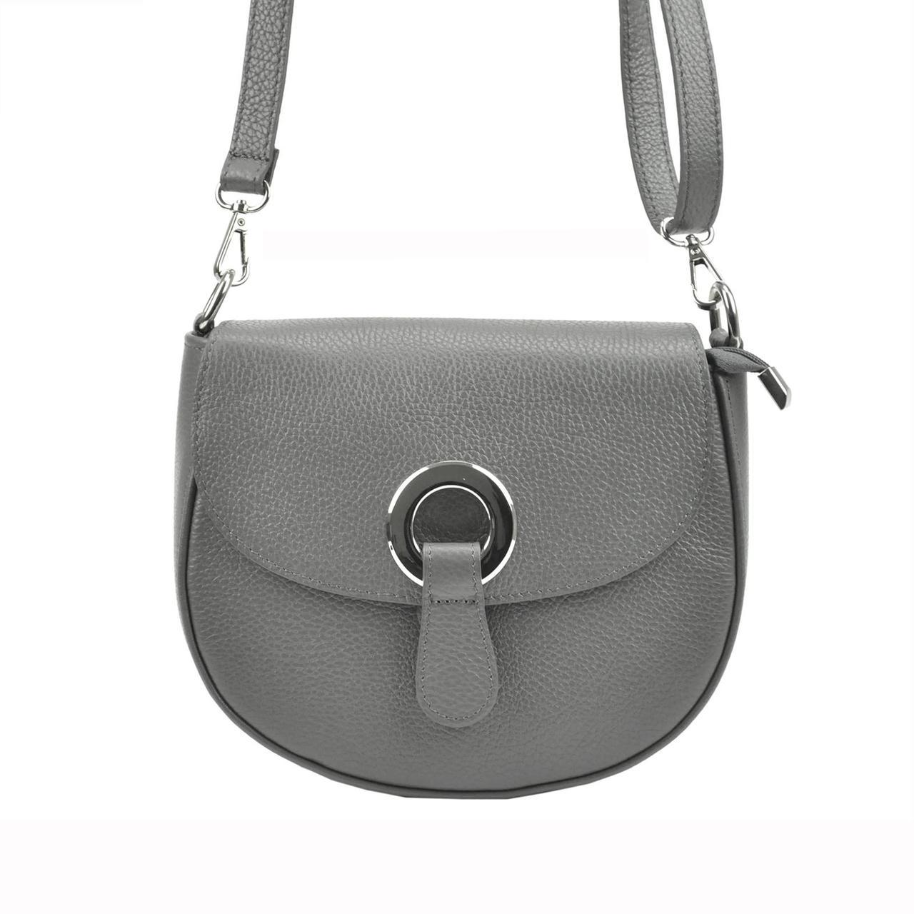 Жіноча шкіряна сумка Patrizia Piu 419-034 Темно-синій