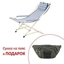 "Кресло ""Качалка"" d20 мм (текстилен голубая полоска)"