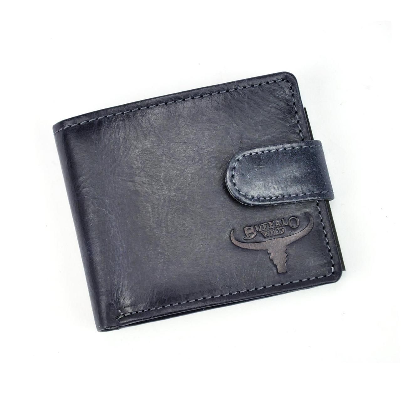 Мужской кожаный кошелек Wild N1183L-HP Коричневый