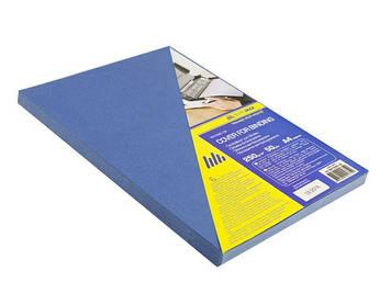 """Обкладинки для брошурування А4 """"Buromax"""" 250мкм картон під шкіру син. №0580-02(50)"""