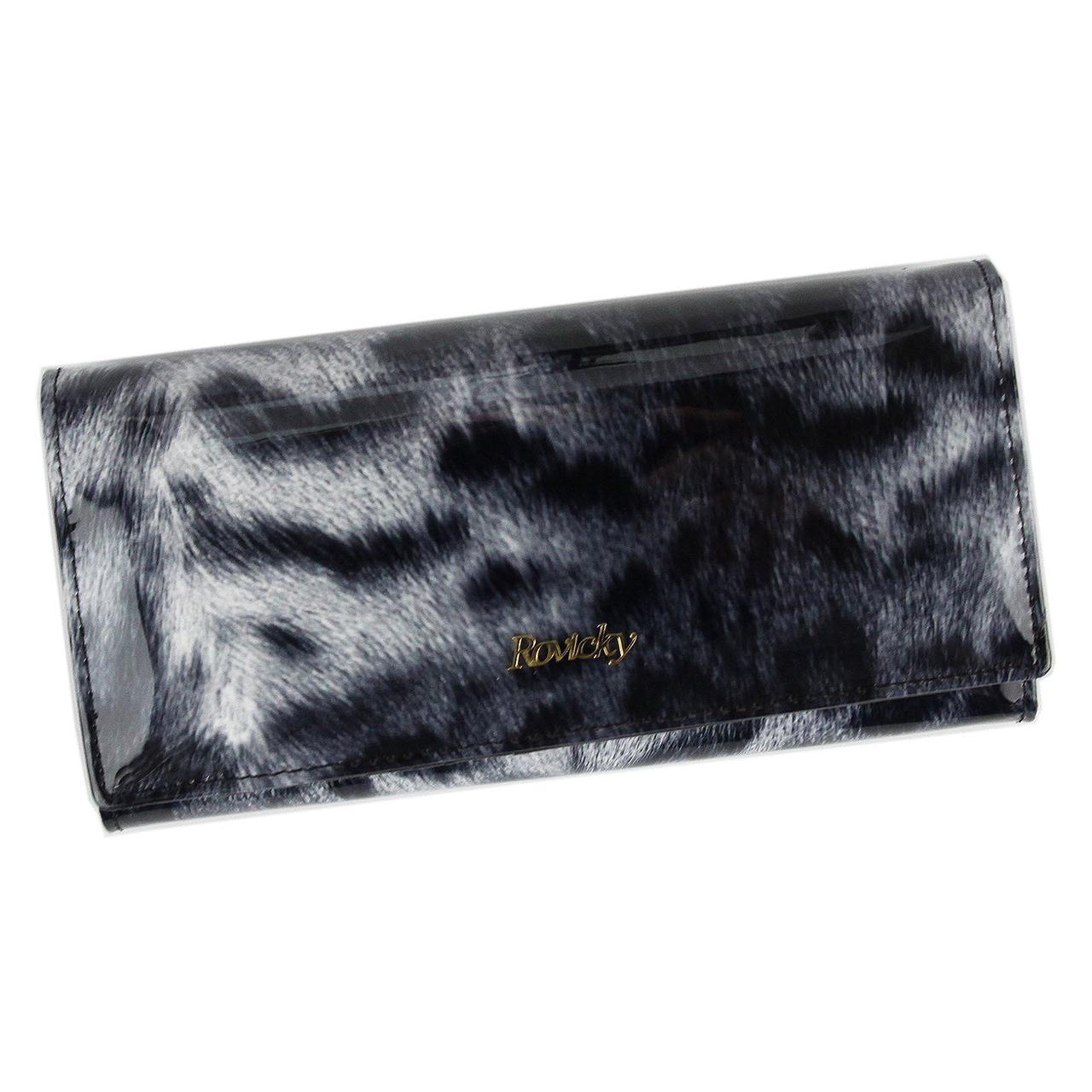 Жіночий шкіряний гаманець Rovicky 8805-PTR RFID Червоний