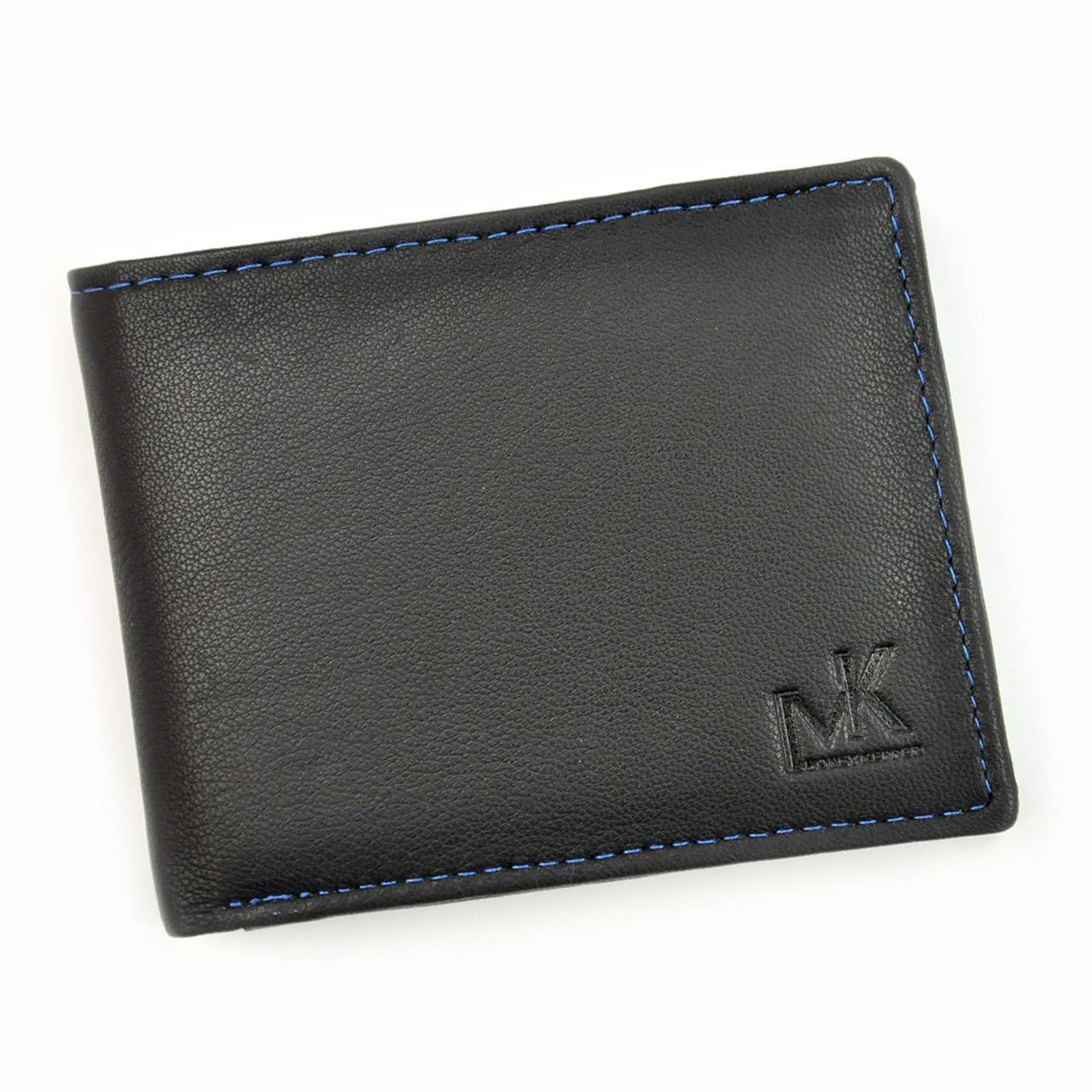 Мужской кожаный кошелек Money Kepper CC 5130 Черный