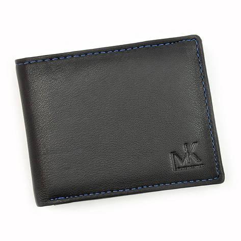 Чоловічий шкіряний гаманець Money Kepper CC 5130 Чорний, фото 2