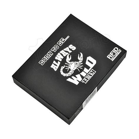 Чоловічий шкіряний гаманець Wild N992L-BC RFID Темно-коричневий, фото 2