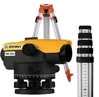 Комплект геодезиста Нивелир оптический Sndway SW-A32+ рейка 5м+штатив 1,65м