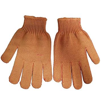 Перчатки рабочие трикотажные оранжевые с синим пвх рисунком 10Р СТАЛЬ