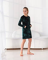 Затишне дитяче плаття з велюру.