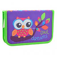 Пенал твердый Smart одинарный Owl Фиолетовый (531658)