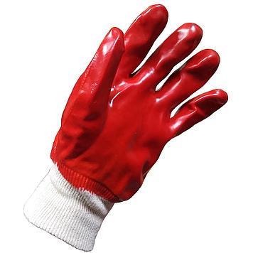 WERK WE2111 Перчатки рабочие обрезиненные красные
