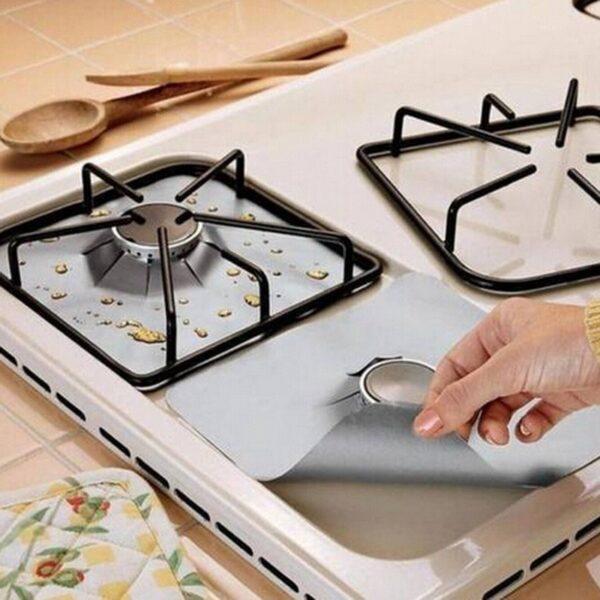 Защитная алюминиевая фольга для плиты 50*60 см защита от жира и нагара