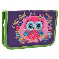 Пенал твердый Smart одинарный без клапана Little Owl Фиолетовый (532010)