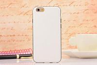 Белый кожаный силиконовый чехол для Iphone 6